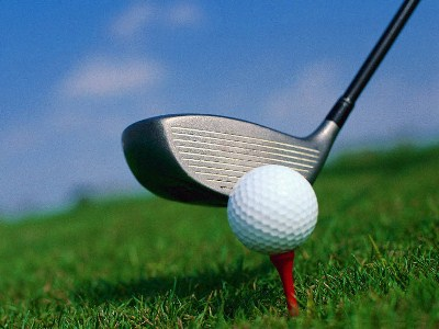 Picture of a golf club and ball